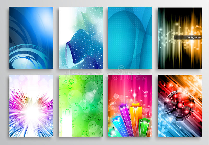 Set of Abstract modern backgrunds for flyer and brochure design stock illustration