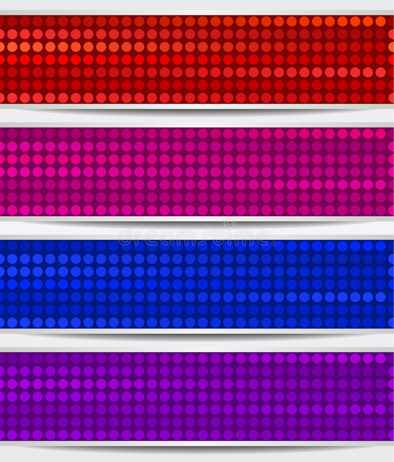 Download Set Of Abstract Mosaic Banners Stock Vector - Image: 28509181