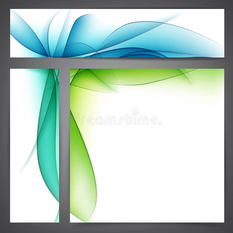 Set Of Abstract Nature Banners. Royalty Free Stock Photos