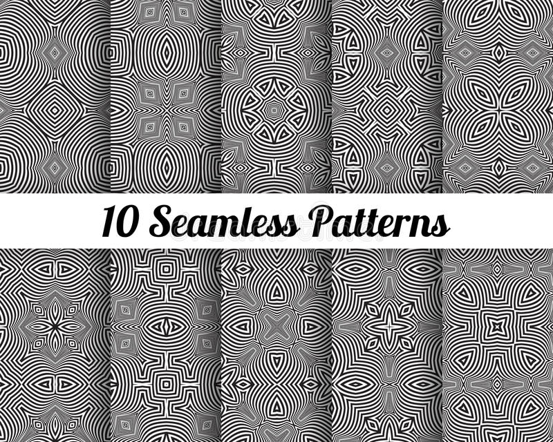 Set of 10 Abstract patterns stock photos