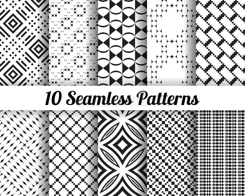 Set of 10 Abstract patterns royalty free stock photo