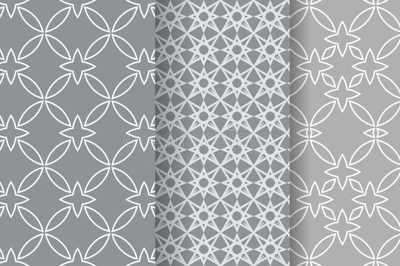 Set of 3 Abstract patterns vector illustration