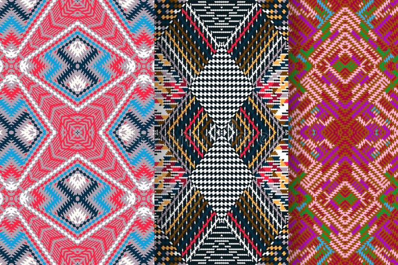 Set of 3 Abstract patterns royalty free stock image
