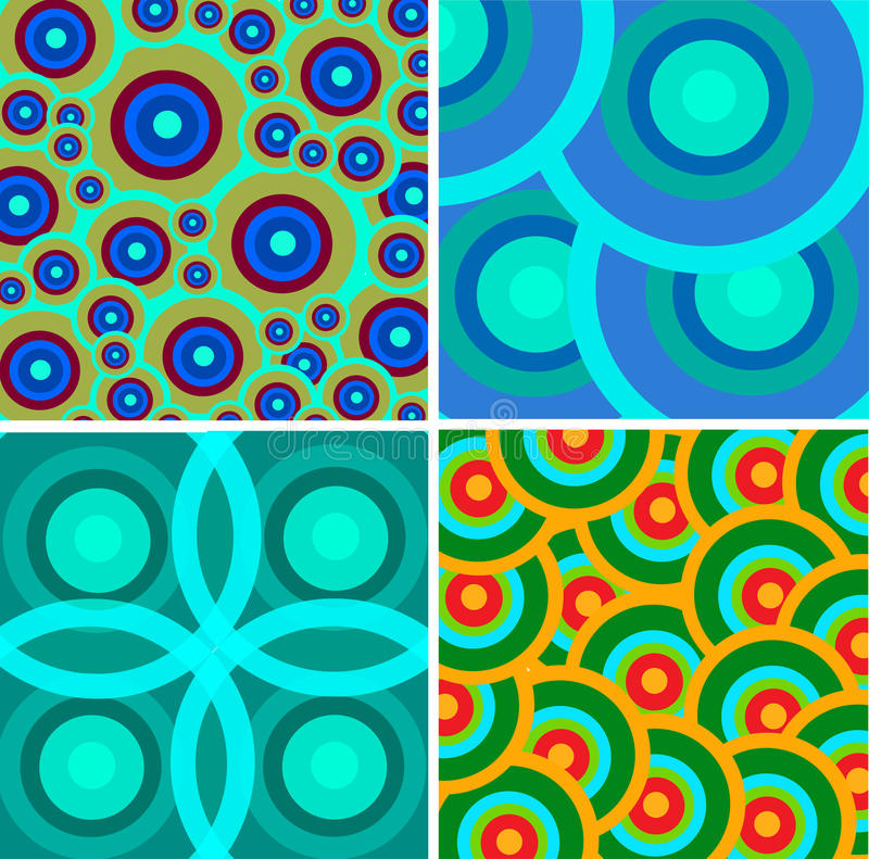 Set from abstract retro ornaments royalty free illustration
