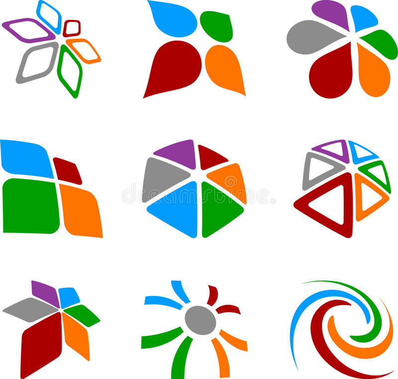Set Of Abstract Symbols. Royalty Free Stock Photography