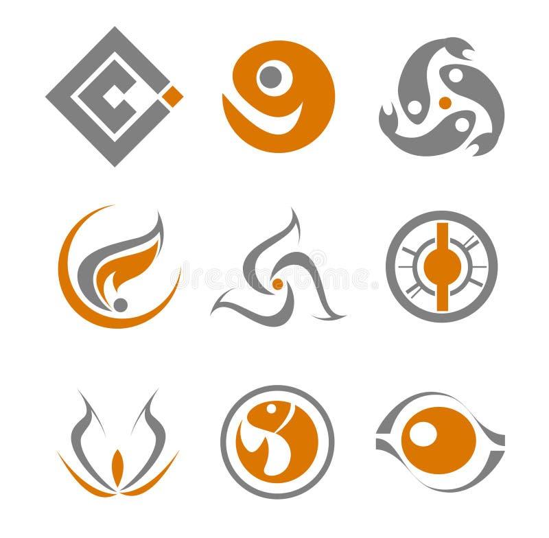 Set of abstract symbols stock illustration