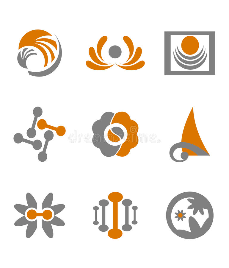 Download Set of abstract symbols stock vector. Image of design - 13244970