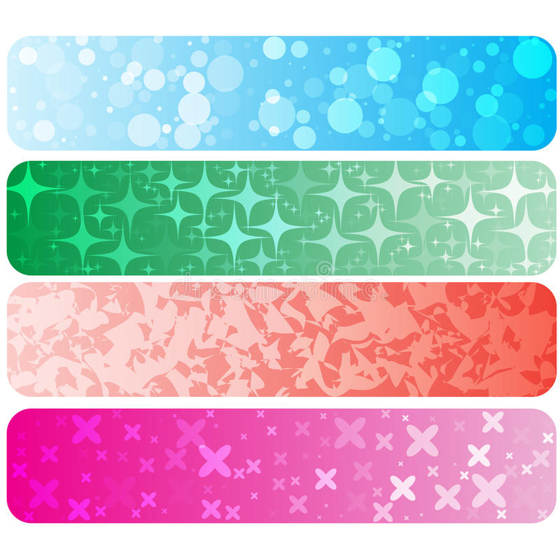 Set of abstract technology concept colorful banners & backgrounds. royalty free illustration