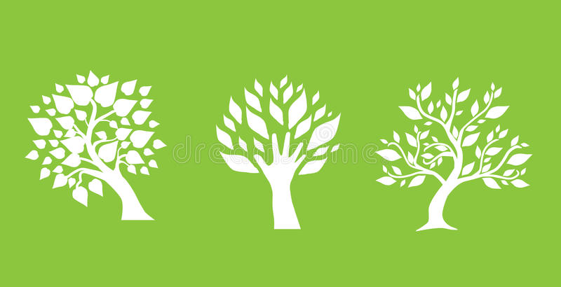 Download Set of abstract trees stock vector. Image of illustration - 15154748