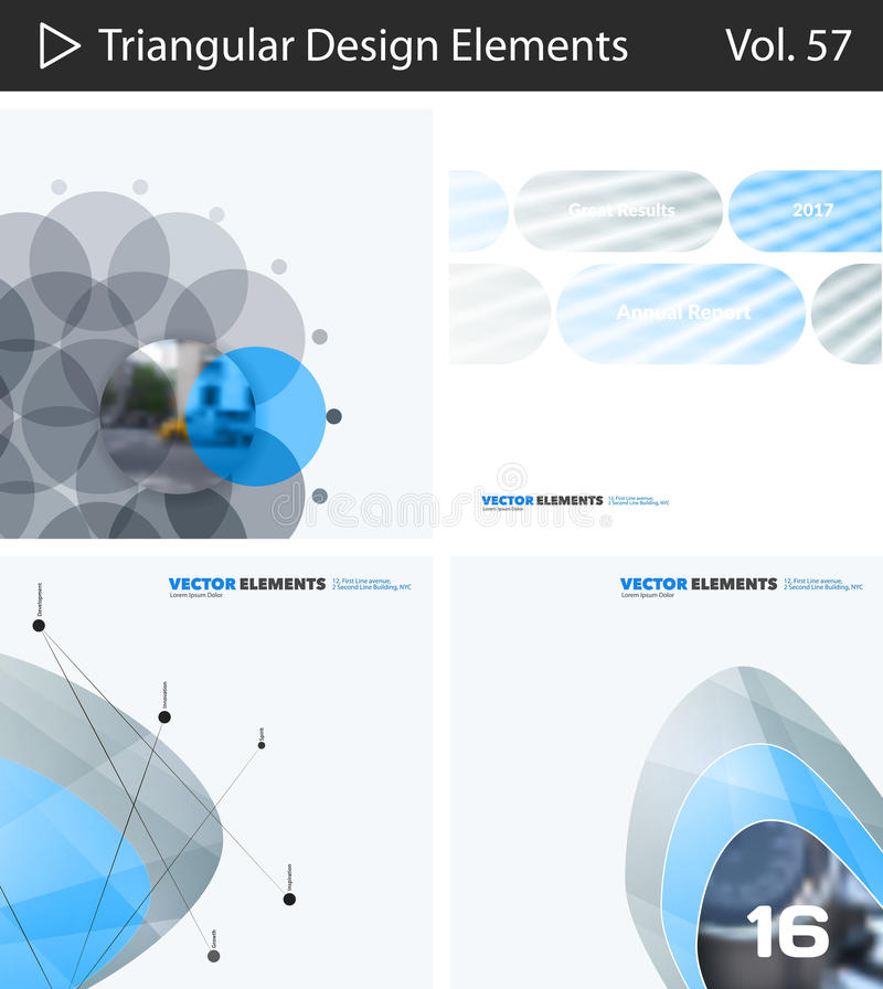 Download Set Of Abstract Vector Design Elements For Graphic Layout. Modern Business Background Template Stock Image - Image of effect, book: 94761881