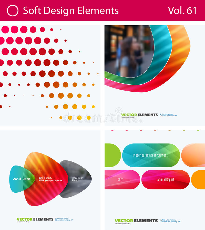 Download Set Of Abstract Vector Design Elements For Graphic Layout. Modern Business Background Template Stock Image - Image of mesh, pattern: 94762101