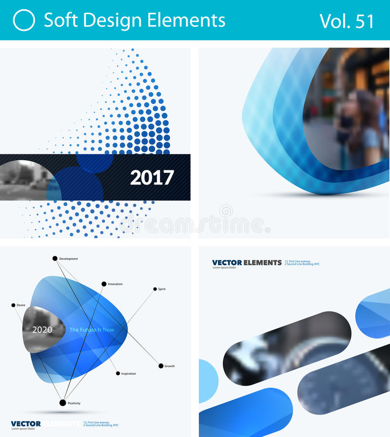 Download Set Of Abstract Vector Design Elements For Graphic Layout. Modern Business Background Template Stock Photo - Image of material, concept: 94762284