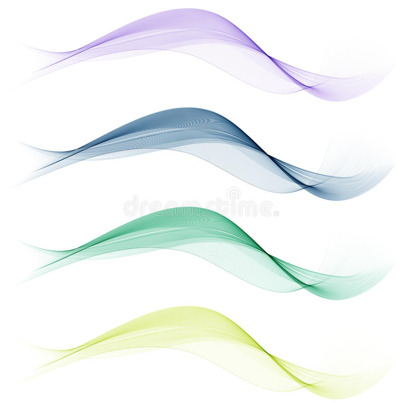 Set of abstract wave stock illustration