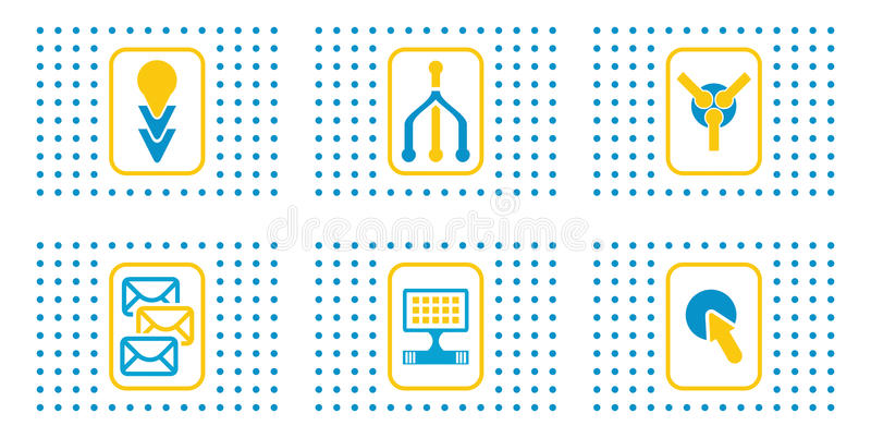 Set of abstract web icons vector illustration