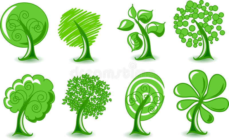 Download Set Abstracts  Trees, Vector Royalty Free Stock Photography - Image: 21863197