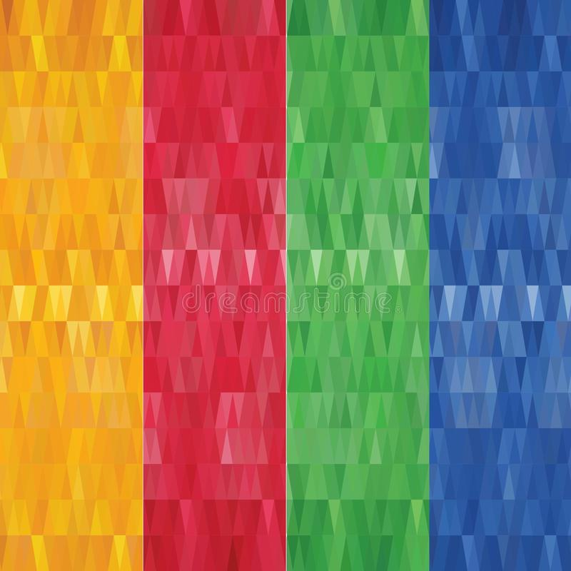 Set abstrakcjonistyczni geometryczni poligonalni sztandary - eps10 wektor ilustracji
