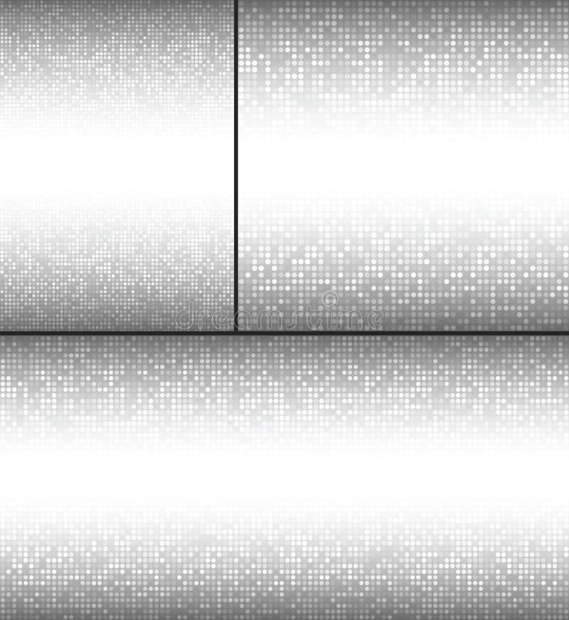 Set Abstrakcjonistyczni Szarzy technologia okręgu tła, kolekcja biznesowa technologia ilustracji
