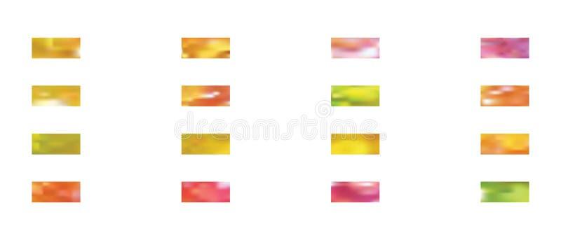 Set abstrakcjonistyczni t?o obrazki ilustracja wektor