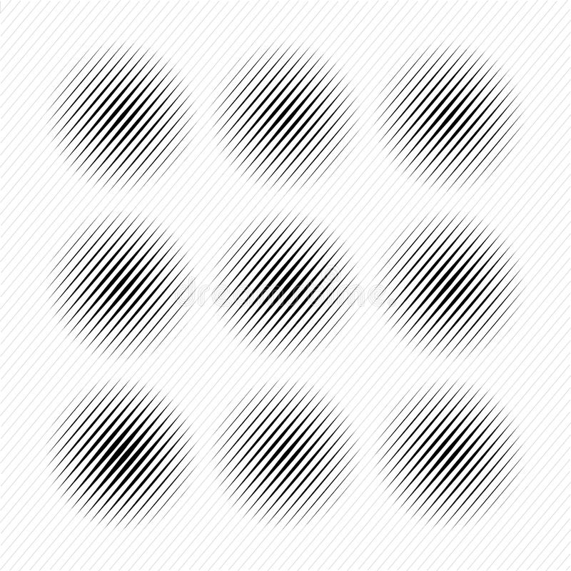 Set Abstrakcjonistyczny halftone kropkujący okręgi, wektor royalty ilustracja