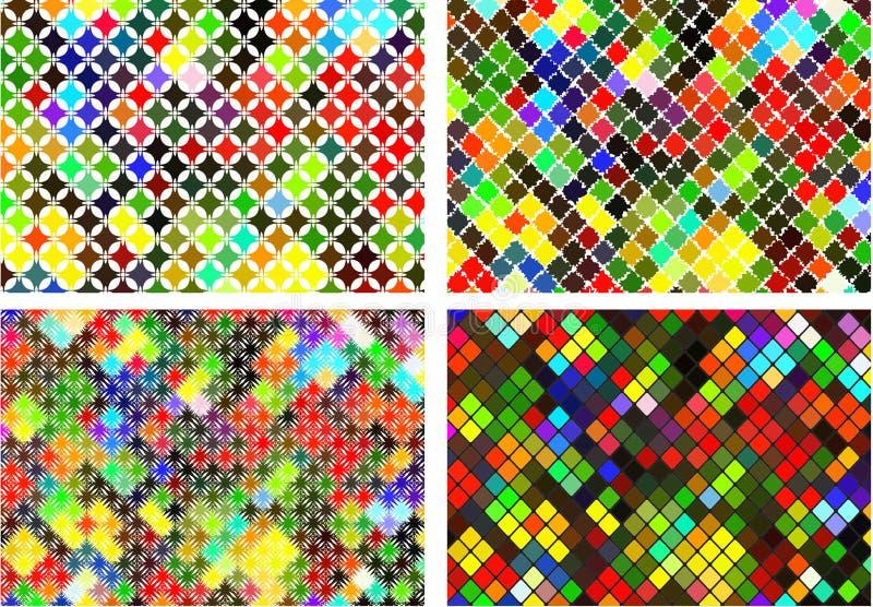 Set abstrakcjonistyczny jaskrawy kolorowy tło royalty ilustracja