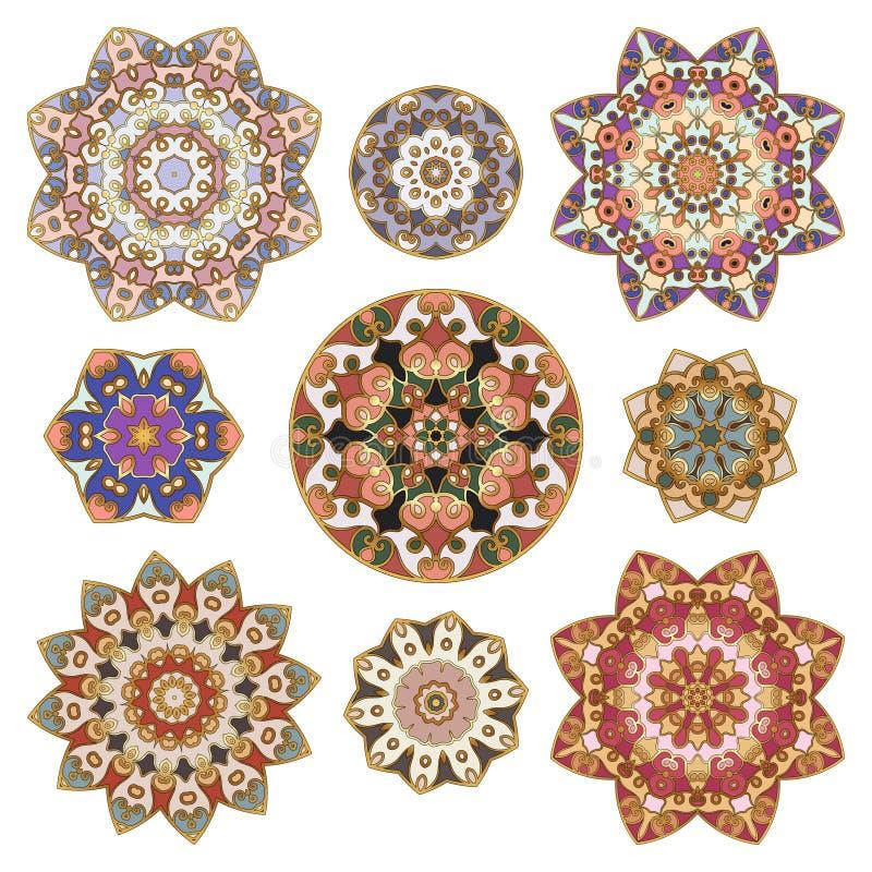 Set abstrakcjonistyczny kółkowy element ilustracji