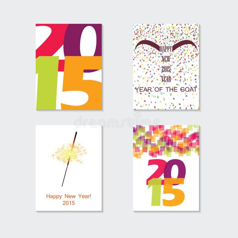Set abstrakcjonistyczny wektorowy nowożytny broszurka projekta szablon z odrętwiałym ilustracja wektor