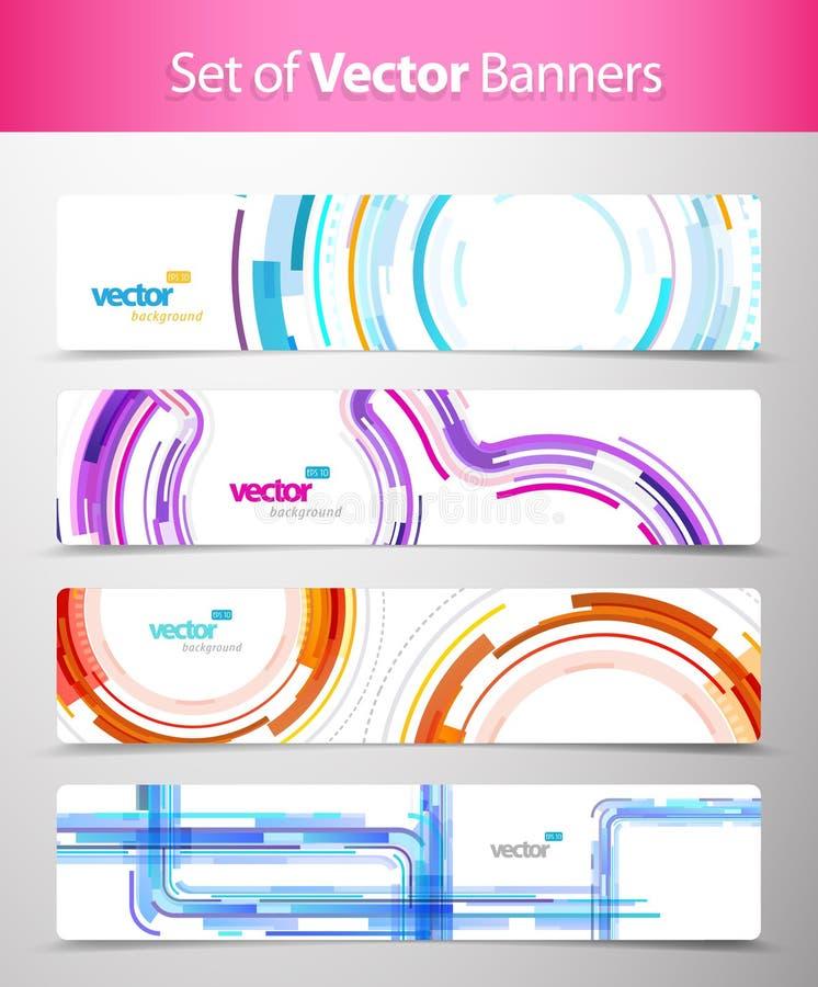 Set abstrakte bunte Web-Vorsätze.