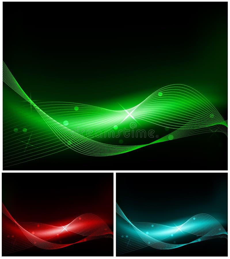 Set abstrakte Hintergründe vektor abbildung