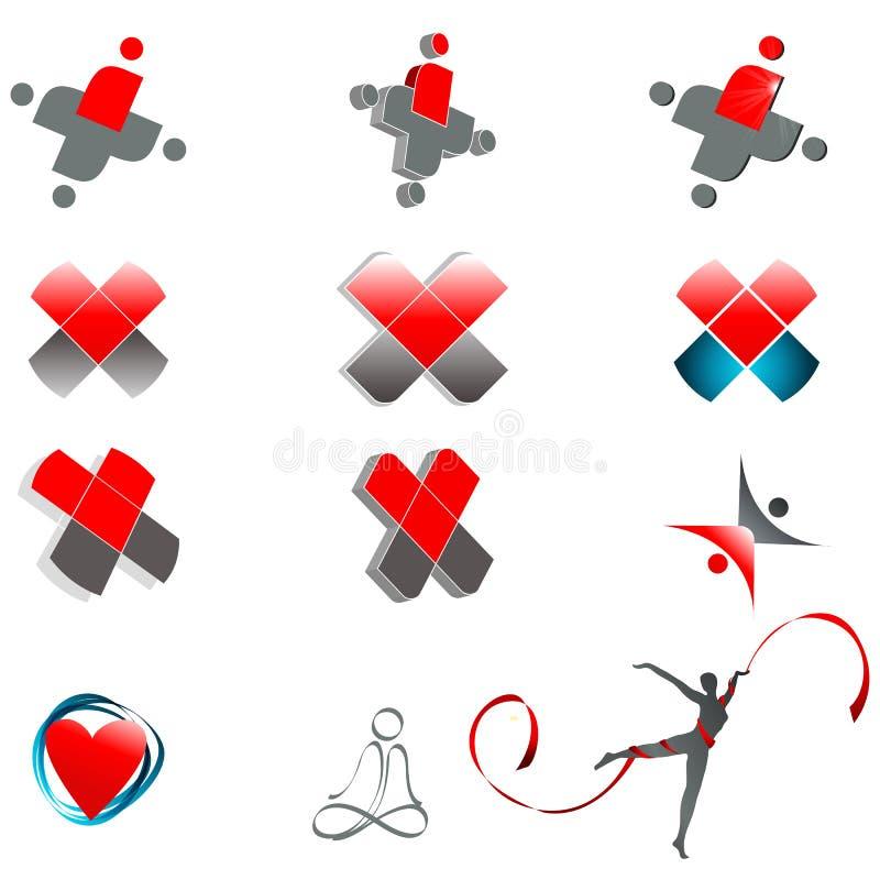 Set abstrakte medizinische Symbole vektor abbildung