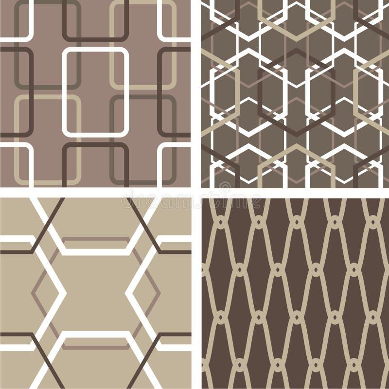 Set abstrakte nahtlose Muster stock abbildung