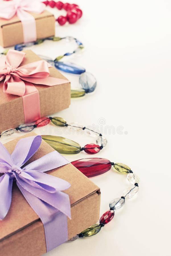 Set accessories for women fashion purchase. Making gifts for the holiday royalty free stock photography