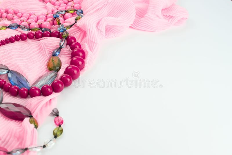 Set accessories for women fashion purchase. Making gifts for the holiday stock image