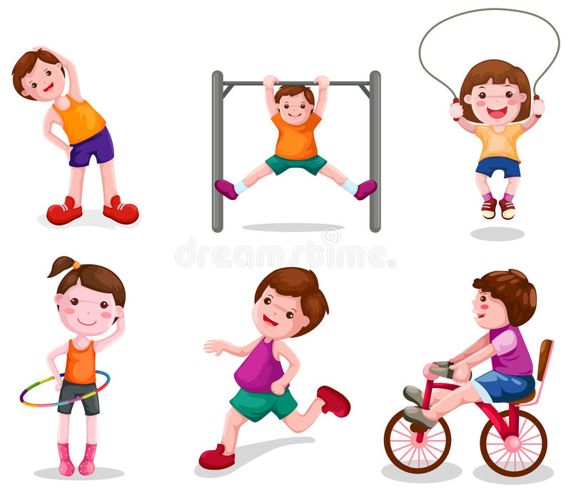 Download Set Of Activity Kids Playing Stock Vector - Image: 20124250