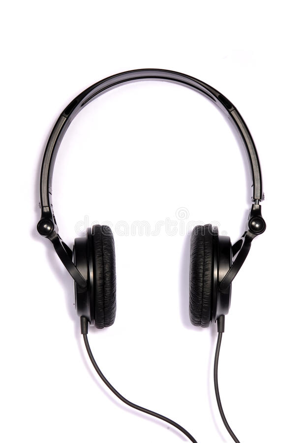 Download Black Adjustable Headphones Stock Image - Image: 29729255