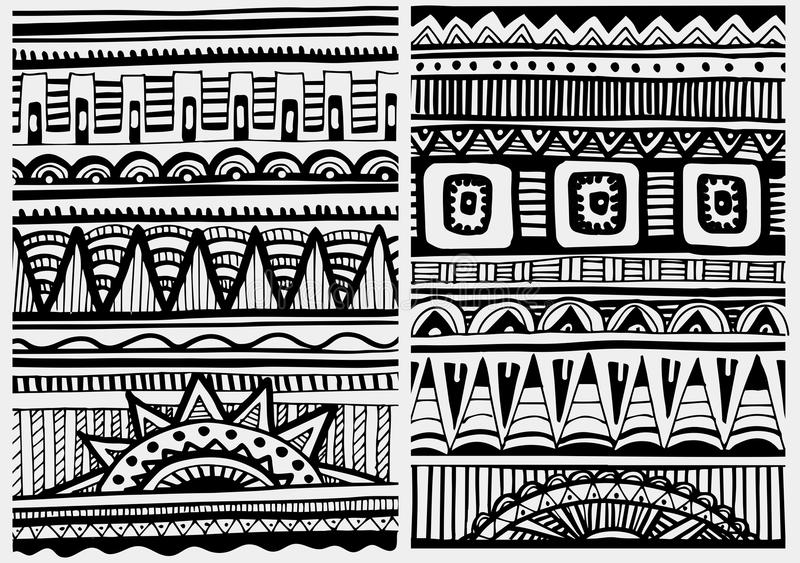 Stock Illustration Volleyball Tribal Abstract Vector: Set Of African Patterns Stock Vector. Illustration Of