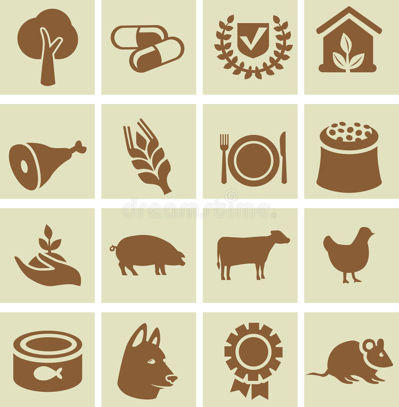 Download Set of agricultural icons stock vector. Illustration of grow - 26929711
