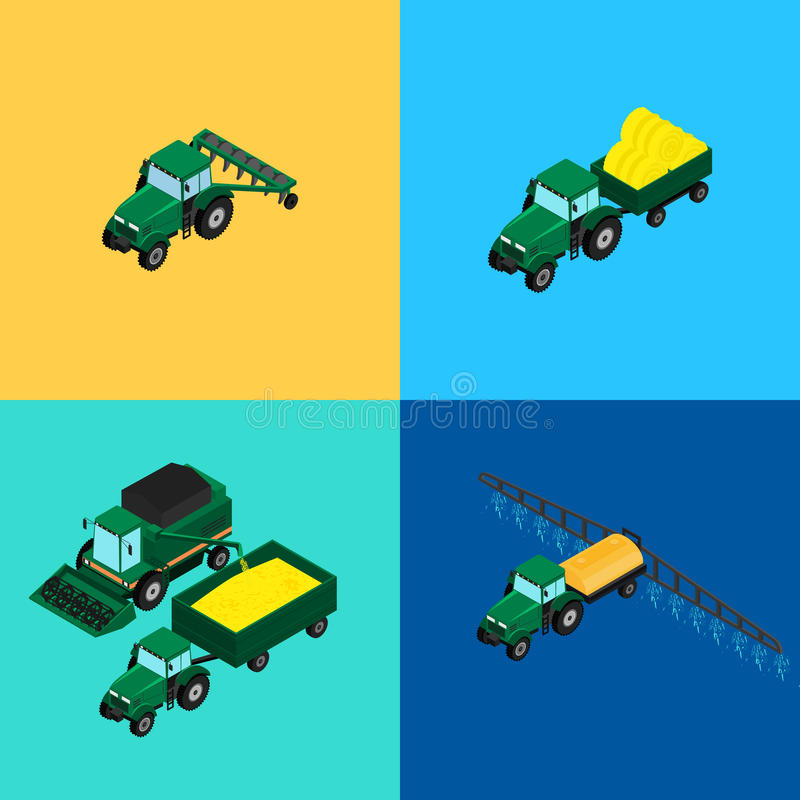Set of agricultural icons stock illustration