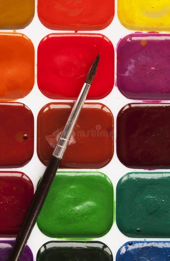 Download Set akwareli farby obraz stock. Obraz złożonej z guasz - 28957171