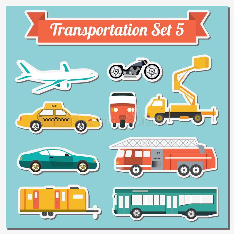 Set of all types of transport icon for creating your own infogr. Aphics or maps. Water, road, urban, air, cargo, public and ground transportation set. Vector vector illustration