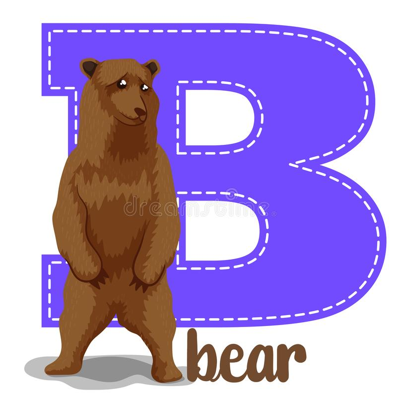 Alphabet letters B. Set alphabet letters B cute simple color stock illustration