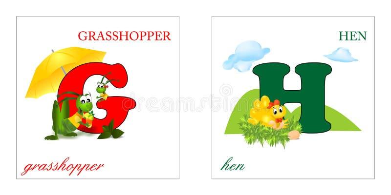 Download Set Of Alphabet Letters, G-H Stock Illustration - Image: 23750702
