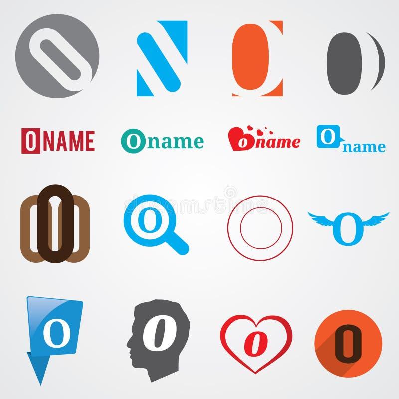 Set Of Alphabet Symbols Of Letter O Stock Vector Illustration Of