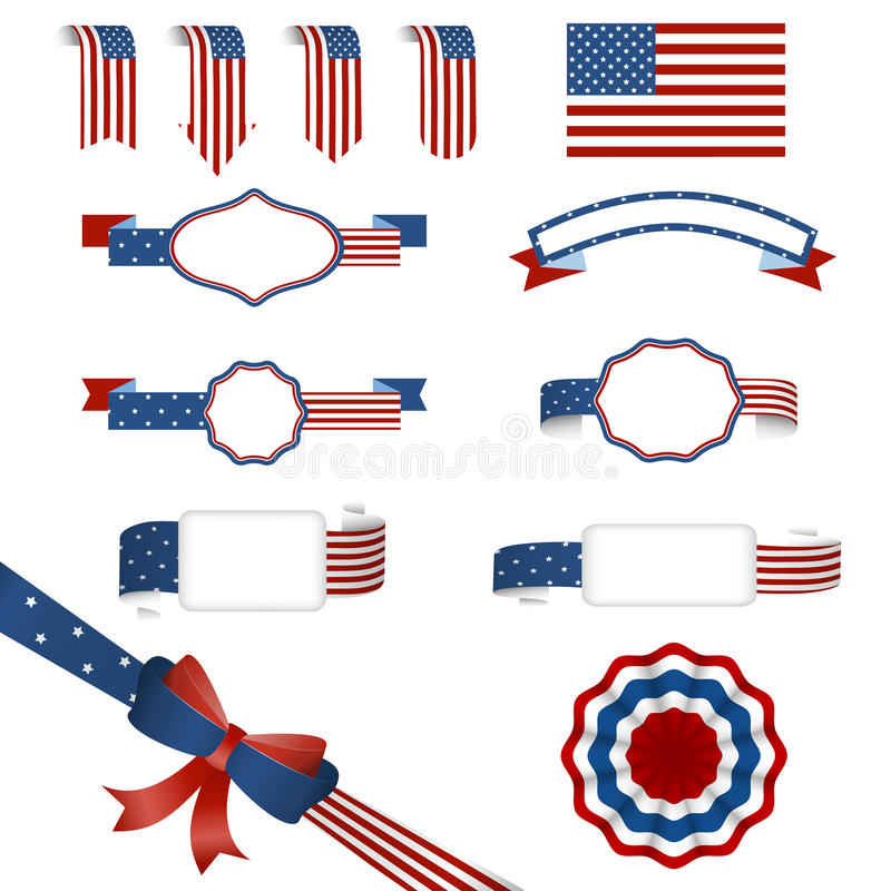 Set of american banners royalty free illustration