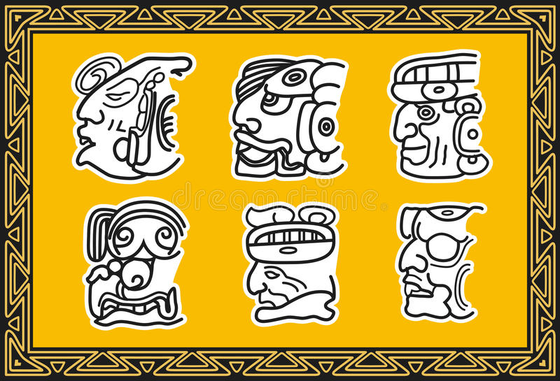 Download Set Of Ancient American Indian Facial Patterns. Stock Vector - Illustration of cultural, decoration: 17598706