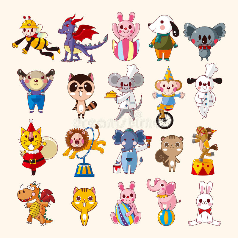 Download Set of animal icons stock vector. Illustration of kitten - 31580207