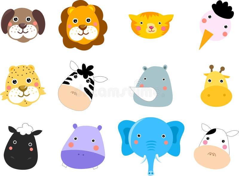 Set of animals vector illustration