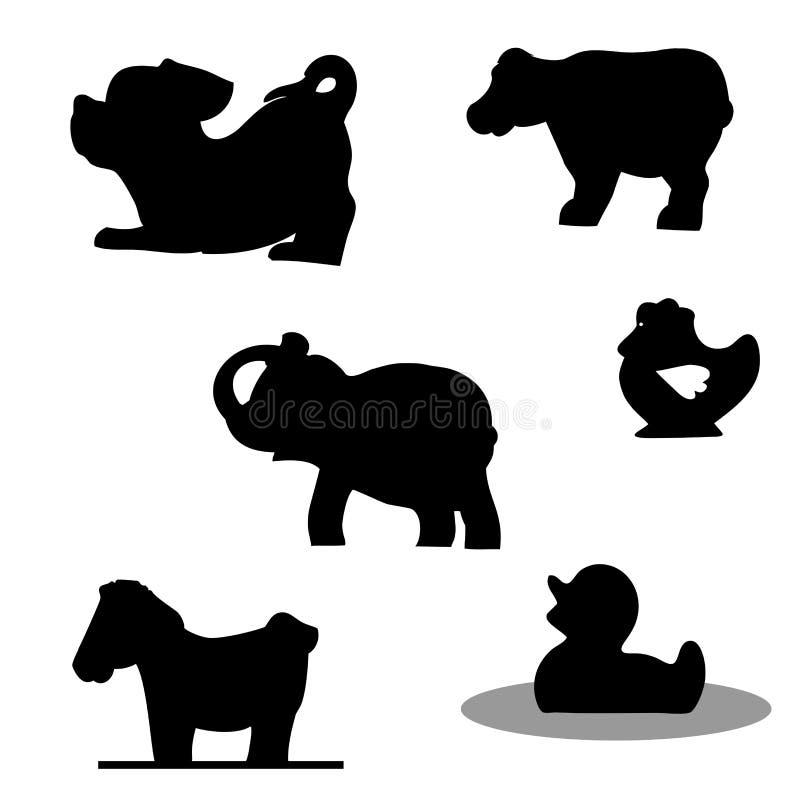 Download Set of animals stock vector. Image of hoof, dark, stencil - 22468854
