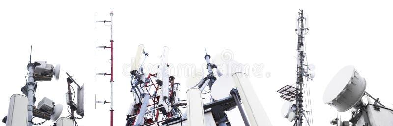 Set antena i sygnał góruje zdjęcia royalty free