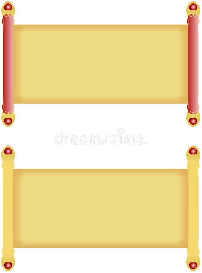 Set antykwarski spojrzenie ślimacznicy papier z złotymi dowels rękojeściami dekorował z kierowymi krystalicznymi klejnotami ilustracji