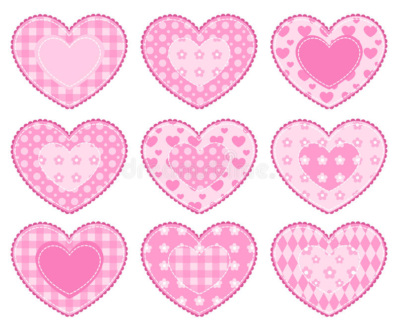 Download Set of applique hearts. stock vector. Image of pattern - 22438272